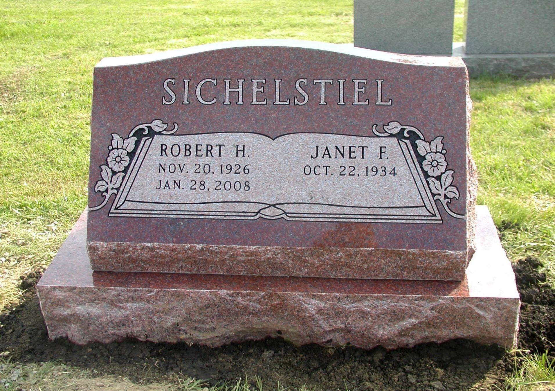 Slant Memorials Rudez Granite